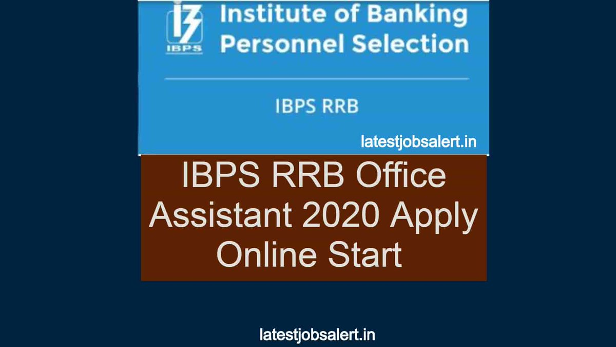 IBPS RRB 2020: The online application process for a total of 4614 posts of Office Assistant (Multipurpose) in Regional Rural Banks across the country have started from today. https://latestjobsalert.in/ibps-rrb-oa-2020/…pic.twitter.com/5fyeG2t7My