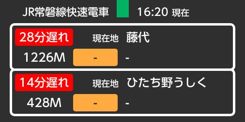 遅延 常磐 線