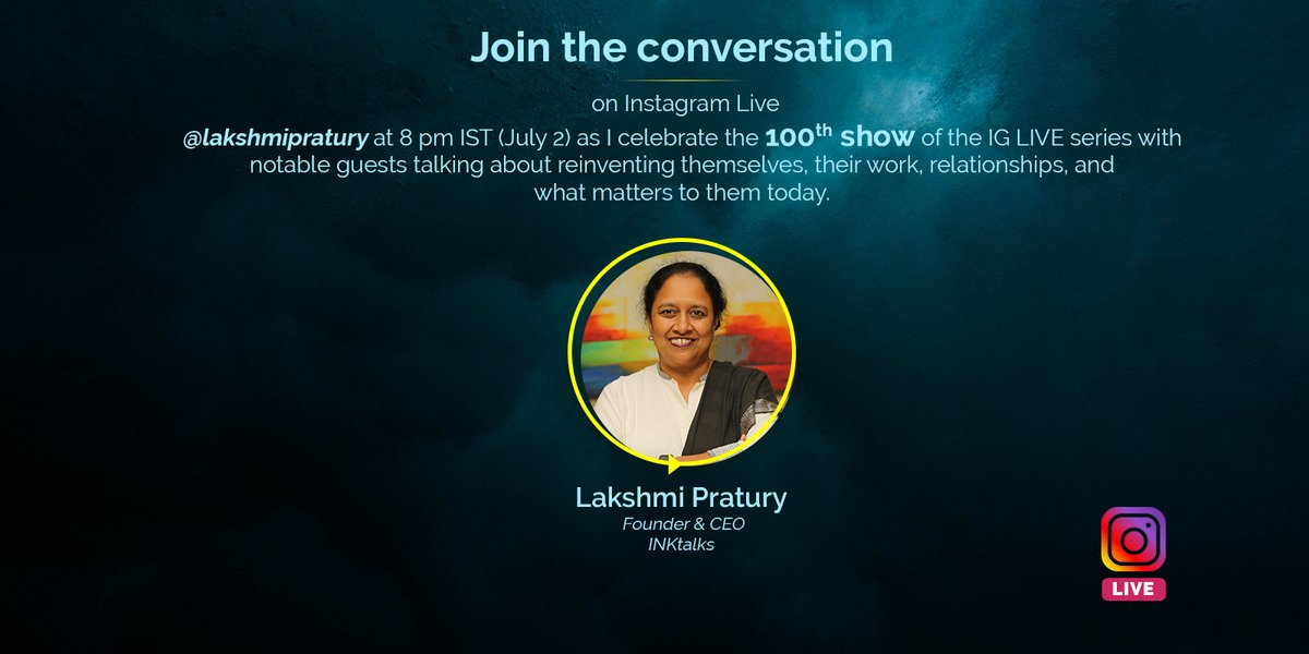 Join me today, on our 100th IG LIVE show as I speak with — Indian pastry chef and businesswoman, @poojadhingraa Dhingra and Oncologist and inventor of $1 'Aum Voice Prosthesis' speaking device, @drvishalrao, on what has changed since the last time, and what matters to them now. https://t.co/c7st2mekeU