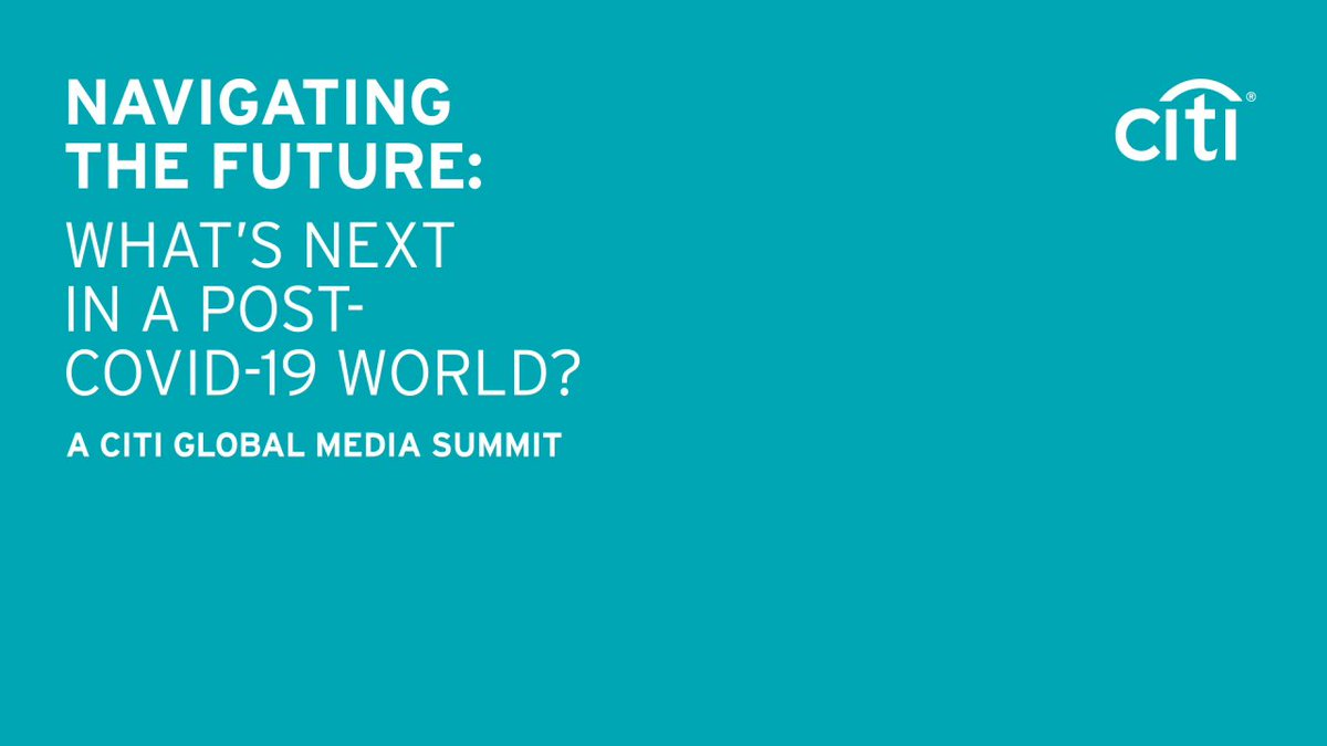 We're looking forward to kicking off our 6th #CitiMediaSummit - held virtually this year. Follow the hashtag for updates and insights from our exciting line up of speakers. https://t.co/Ny06eJZ9Wp