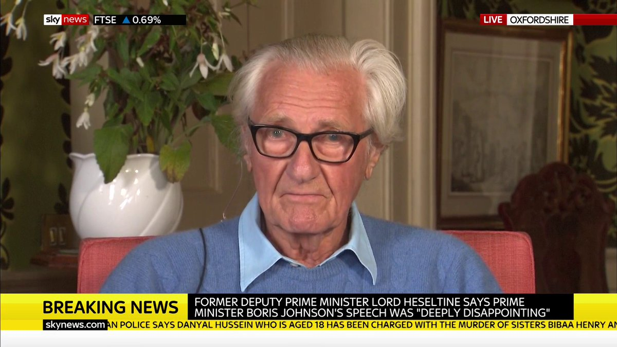 Brexit may have gone from the headlines but it is still affecting businesses according to Lord Heseltine. He says the situation is hanging by a thread with uncertainty over a future deal discouraging businesses from investing and causing job losses. RH #KayBurley