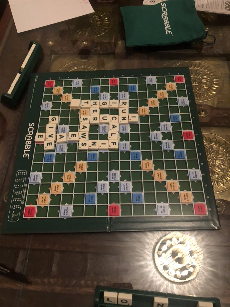 GREEN #Scrabble board!