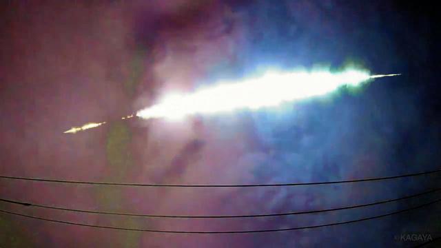 火球破片、関東に落下の可能性 50cm級? 軌道解析へ2日未明に関東上空で目撃された巨大な火球は、直径50センチほどの隕石だった可能性が、明るさの解析などからわかりました。破片が地上に落下した可能性もあります。日本流星研究会が軌道の解析を急いでいます。