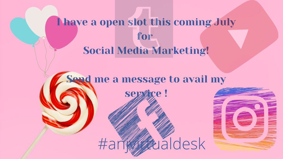 I will be offering a free consultation since I will be having limited open slot for #socialmediamanagement this July!  Send me a message so we can book your FREE Consultation!  #socialmediamanager #virtualassistant #anjvirtualdeskpic.twitter.com/lniThBRBB4