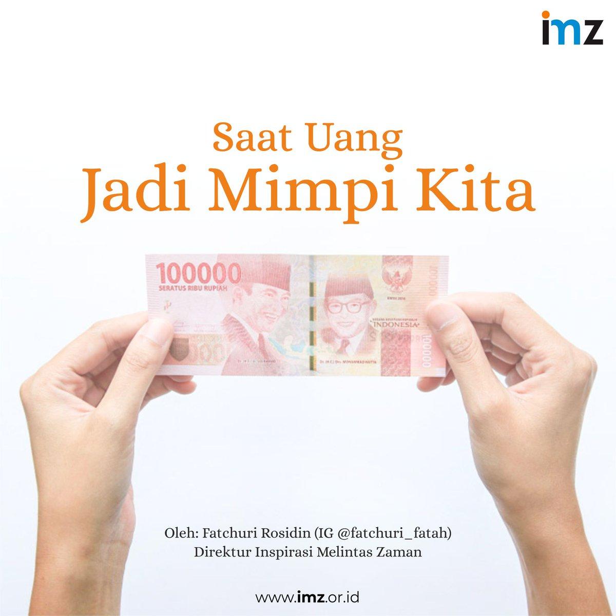 When Money Is Our Dream | https://t.co/7THuvDfZEI  Inspirasi Melintas Zaman (IMZ Consulting) #artikel https://t.co/0y2jJaDe9E