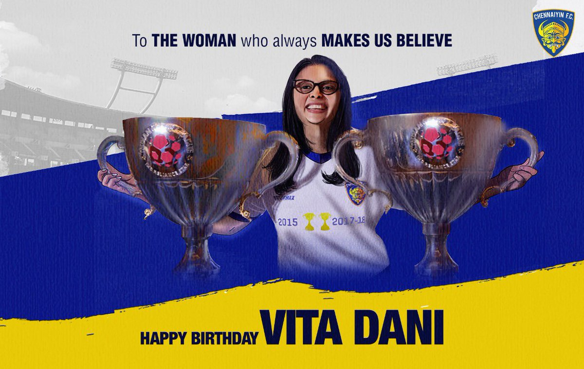 Winner. Leader. Supporter. Here's wishing our co-owner @Vitadani11 a very happy birthday 💙 #AattamReloaded