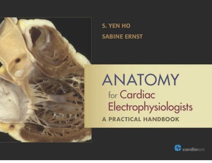 @EPShadi @NishantVermaMD I found the first 6 months of EP fellowship as much about anatomy as anything else. This book is phenomenal.