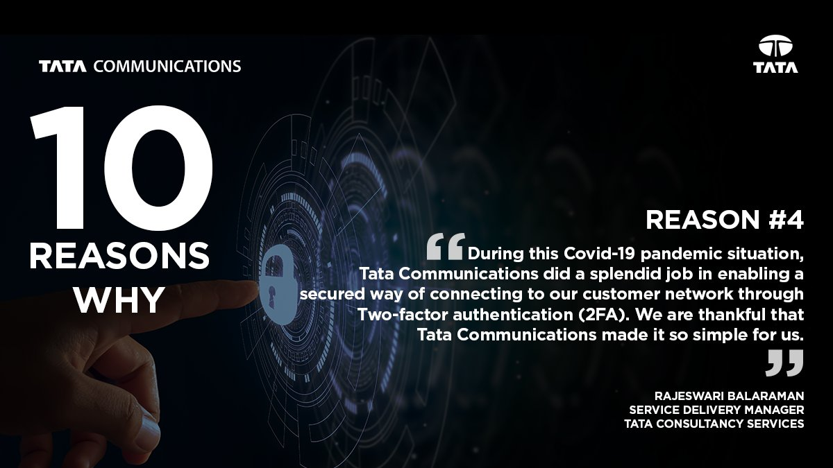 With employees working remotely, ensuring secure, authorised access to networks and critical data has been a big concerns for enterprises. A managed 2-factor authentication service helped @TCS overcome this challenge. To know more visit: https://t.co/MjYgrBkA3L #10ReasonswhyMSSP https://t.co/HsAqSFWuC3