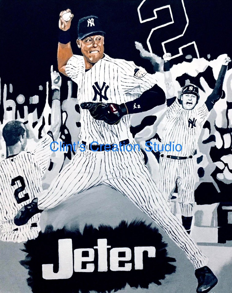 Excited to share this item from my shop: NEW - Derek Jeter New York Yankees Hall of Fame World Series Champ Poster Print Canvas Print Sports Art - You Pick the size and Finish #etsy #sportsart #derekjeter #newyorkyankees https://etsy.me/2C2uPAE pic.twitter.com/kw7wQcCaql