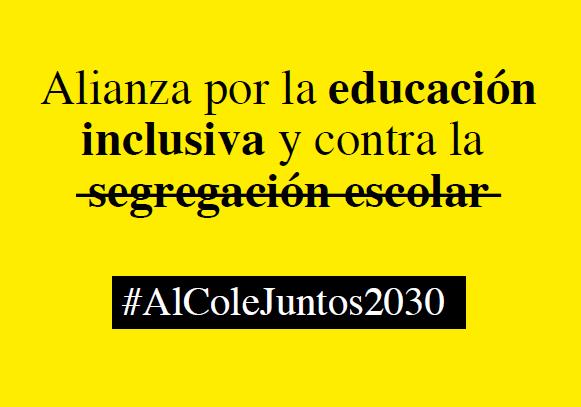 Hoy @SaveChildrenEs @gitanos_org y @Cermi_Estatal lanzamos la Alianza por la Educación Inclusiva y contra la Segregación Escolar #AlColeJuntos2030 para pedir a @educaciongob y las CCAA acabar con la segregación y que el sistema educativo sea plenamente inclusivo en 2030 [HILO👇] https://t.co/UGPA6H3D5Y
