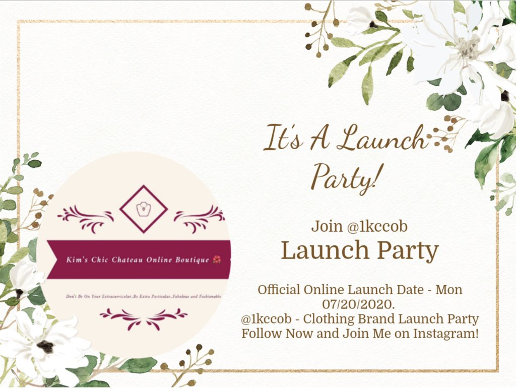 Follow @1kccob on IG for The Official Launch Party and Shop for the BEST Fashions! This is a party you don't want to miss. #FashionAddict##Fashioninsta#FashionLover#FashionForever! pic.twitter.com/r3wK3aQBkS