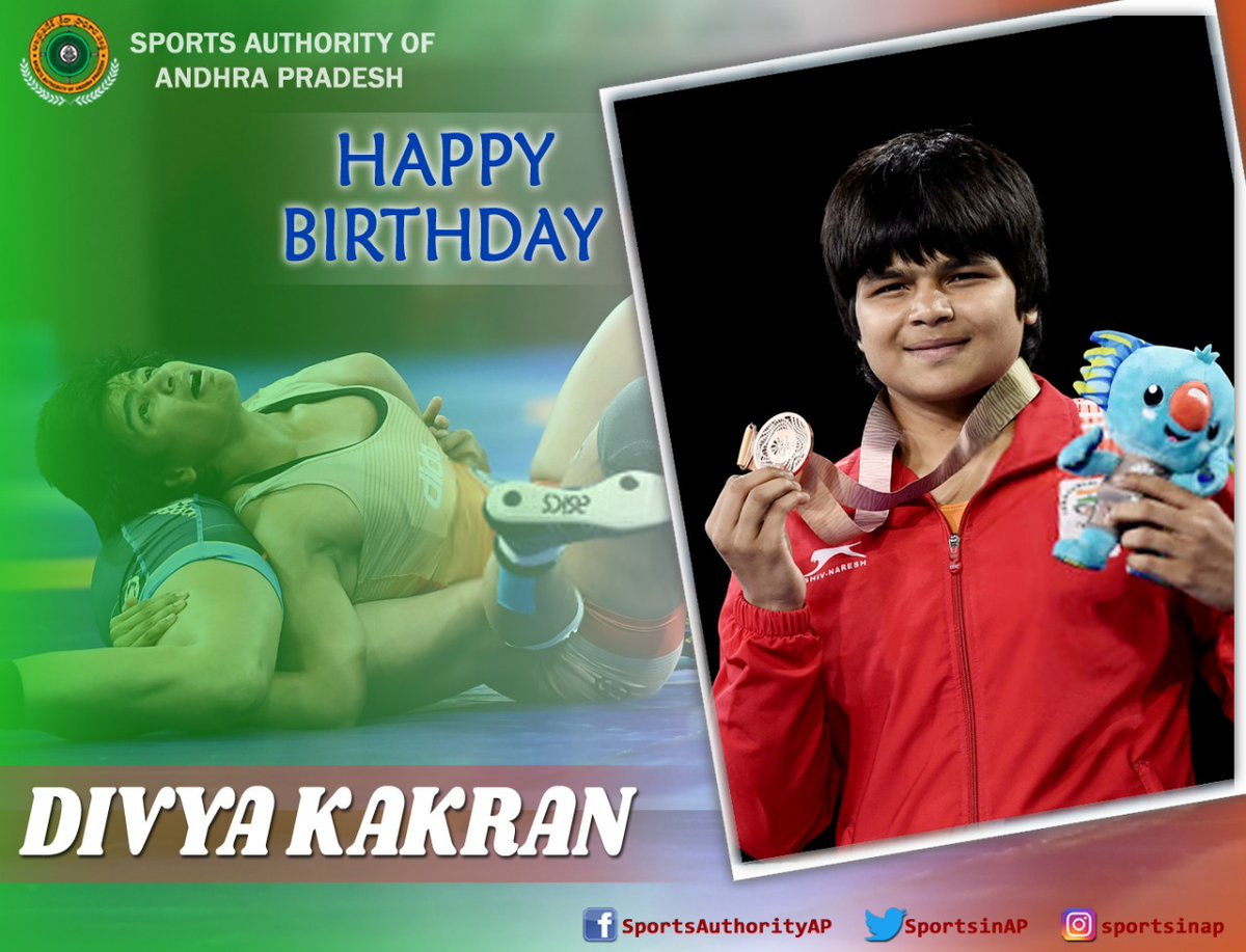#DivyaKakran is a Freestyle Wrestler, who recently won a gold medal at the 2020 Asian Wrestling Championships.   We wish her a very #HappyBirthday  #Sports #SportsinAP #SAAP #Wrestler #BharatKesari  #AsianWrestlingChampionships https://t.co/q2Idiv6lFn