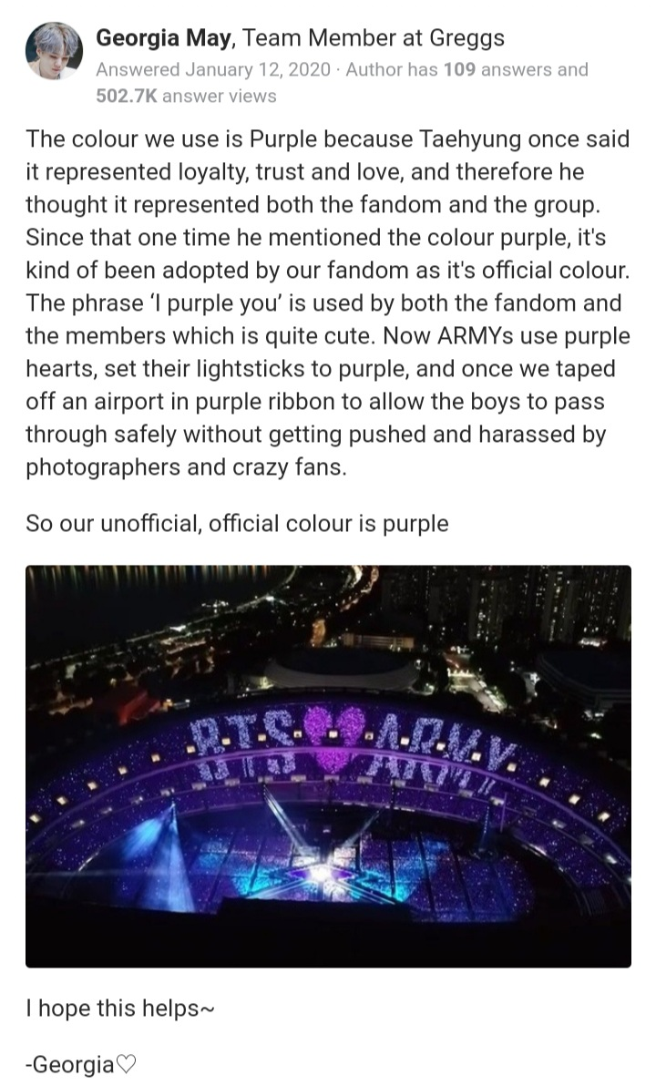 I know the purple heart has a special meaning to yall armies but you have no right to claim thats it's yours specially it's not your Fandom color. pic.twitter.com/FtPyUMzR2y