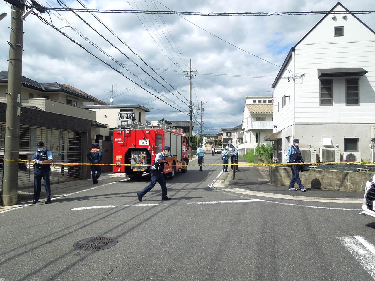 名古屋市名東区の殺人事件の現場の画像