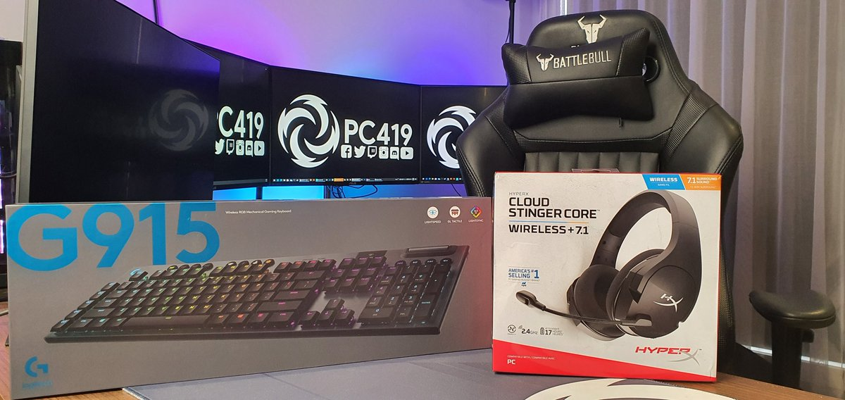 Tonight's live stream @9.00PM AEST on twitch, Leigh will be unboxing Logitech G915 and the Hyper X Cloud  Stinger Core Wireless 7.1  Thanks to @LogitechG_ANZ  and @HyperX and @HyperXAnz  for sending out these products for us to have a look at and review.  https://t.co/tECINq1wvc https://t.co/Q1AolQH3Fs