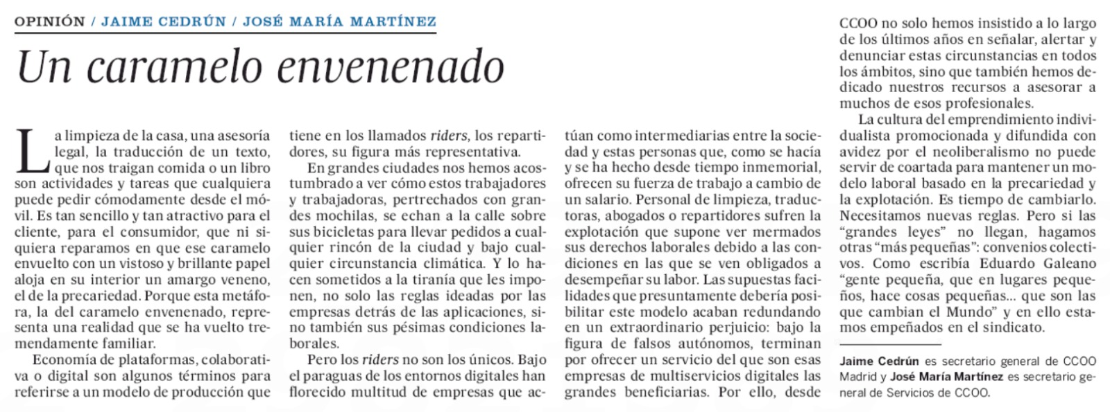 Tribuna El País