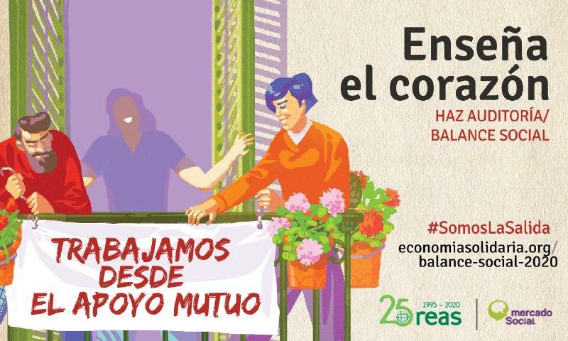 El apoyo mutuo nos mueve en la #EconomíaSolidaria. Por eso, queremos saber las consecuencias de la #Covid19 y poder aplicar medidas de apoyo. Arranca nueva fase del Balance social para conocerlas, súmate #SomosLaSalida https://t.co/2F02b0Up01 @Reas_Red @REAS_Aragon @MESCoopAragon https://t.co/blNQ4TAPXZ