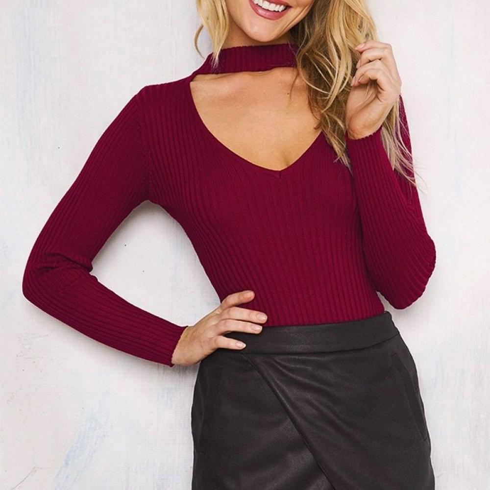 Women's Choker V-Neck Pullover https://sahaexpress.com/product/womens-choker-v-neck-pullover/…  #fashiontrends #fashiongirl pic.twitter.com/bbns8BmfB0