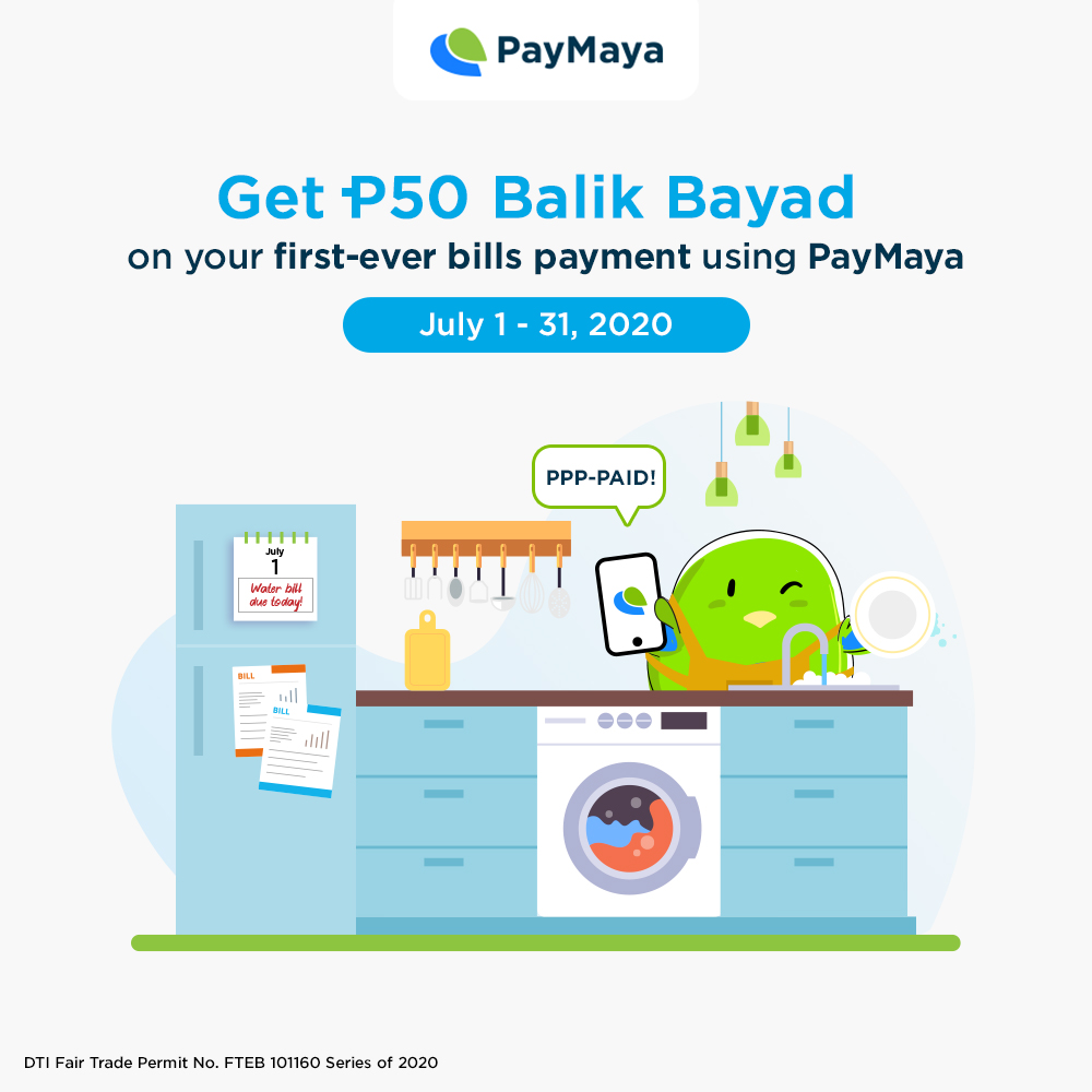 #SkipTheLine and pay for bills using PayMaya! ​ ​ Get a P50 Balik Bayad voucher on your FIRST-EVER bill payment using PayMaya. Minimum payment required is P1,000. ​  Visit https://t.co/r0M8EsJ6wD for the full mechanics.​ ​ Basta bills, don't pay cash. PayMaya! https://t.co/SbYRAwSh2b
