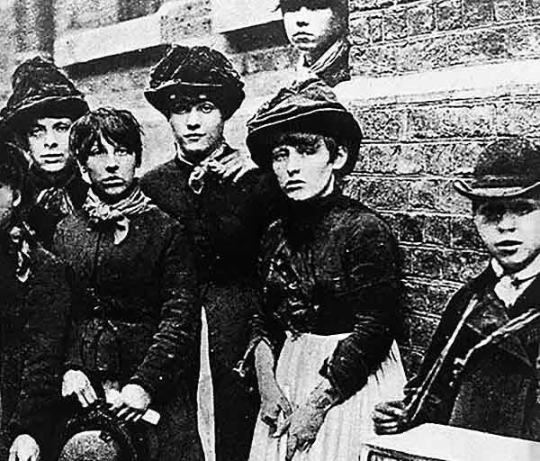 #OTD 1888: Women and girls working at Bryant and May's match factory in Bow, London, went on strike over poor working conditions.   Low pay for a 14-hour day was cut even further if workers talked or went to the toilet, and bone cancer caused by white phosphorus was common. https://t.co/Lc8Hyg1Try
