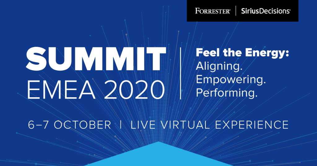 At this years #SDSummit Europe, the combined power of Forrester and SiriusDecisions will unleash its new energy on virtual stages for the B2B community of #sales, #marketing and #product innovators: forr.com/3ge3DxO