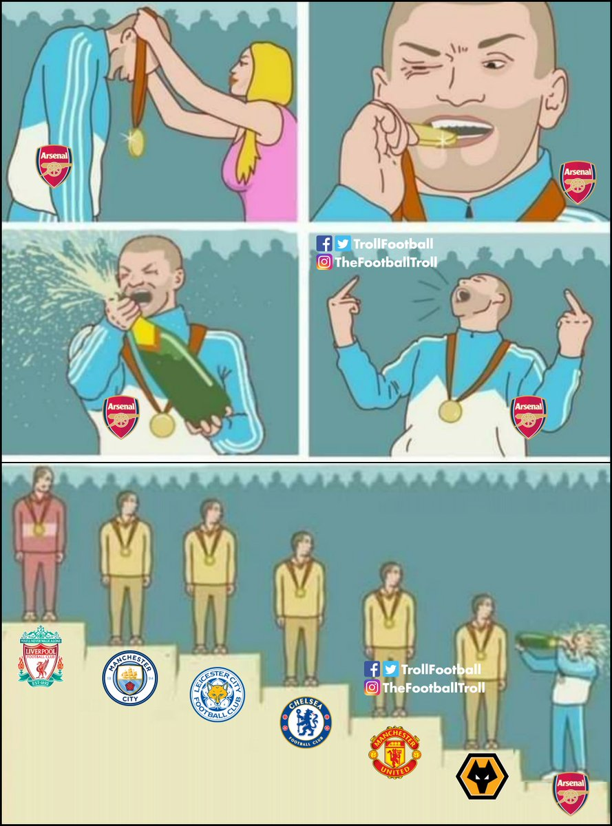 Arsenal after beating Norwich 4-0 https://t.co/q22lyuAcek