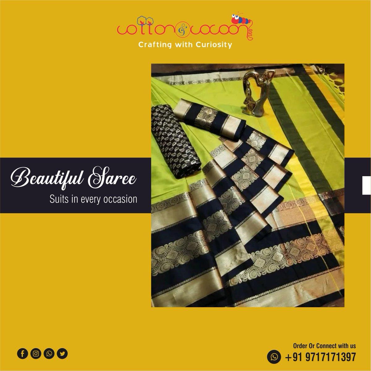 Your presence should be unique! wear our unique collection to be unique. #Handicraft #Artandcraft #delhi #uttamnagar #india #designersaree #banarasisilksarees #greensaree #sareefashion #bollywoodsarees #sareeswag #partywearsaree #partywearsareesonline #girlfashionpic.twitter.com/z7ODAvfMv5
