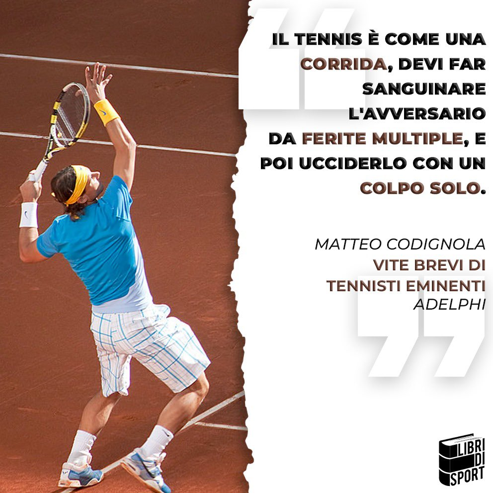 🎾 Corrida.  👉🏻 https://t.co/OKfIH1XhKR  #libridisport #quoteoftheday https://t.co/WhGxXTBYP3