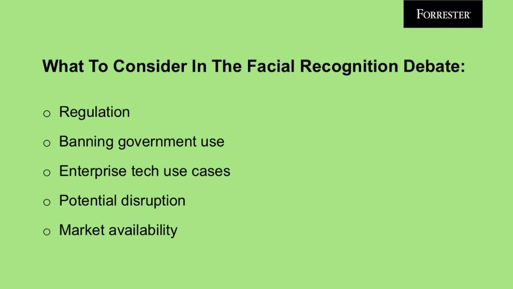 Get answers to the five most pressing questions in the facial recognition debate. forr.com/2VBw15k