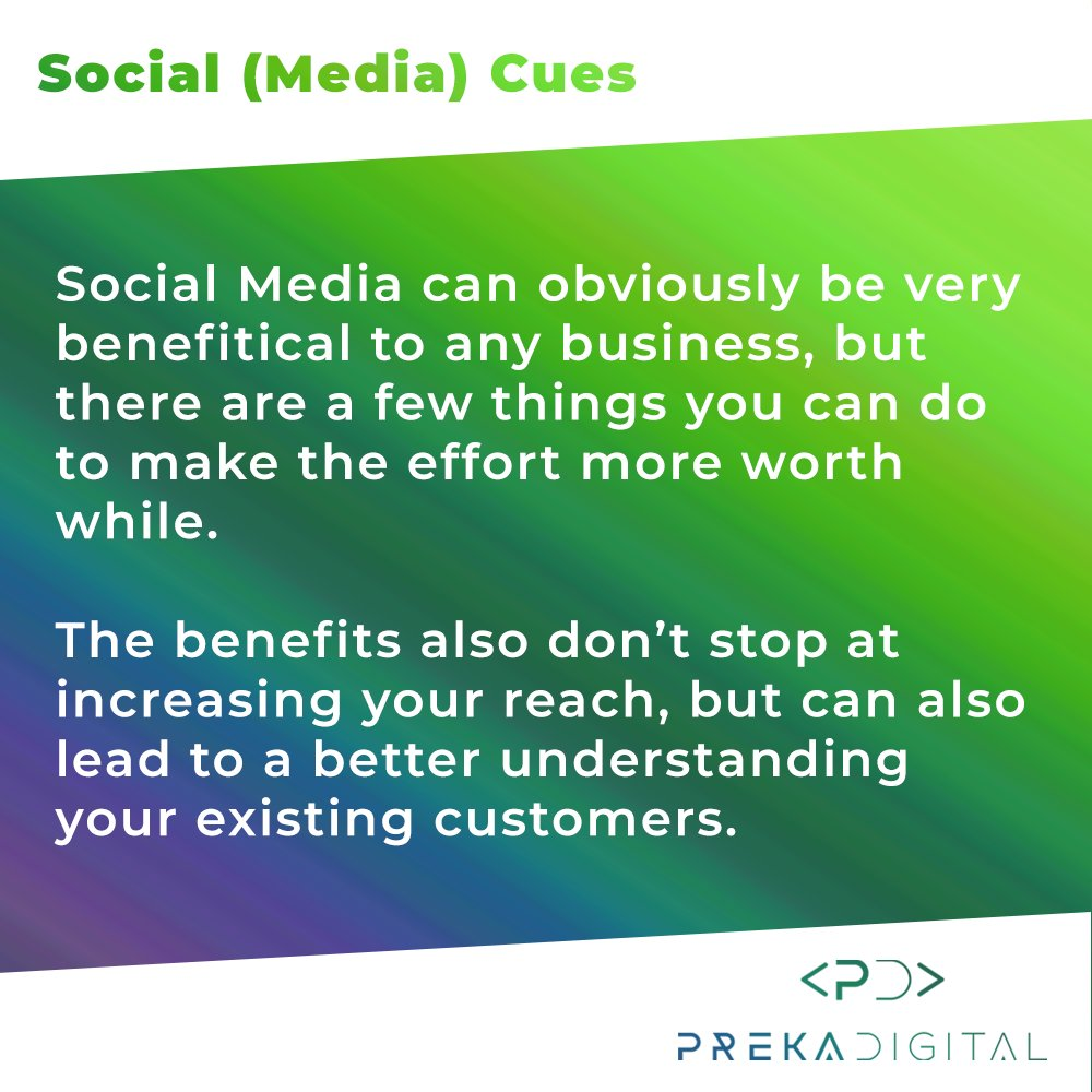 Social Media can be beneficial to virtually any business. Here are a few basic tips to help make it more worth your while. #digitalpresence #socialmedia #marketing #softwaredevelopment #startup #modernisation #digitalization #digitaltransformation https://t.co/OF0zFHgNy6