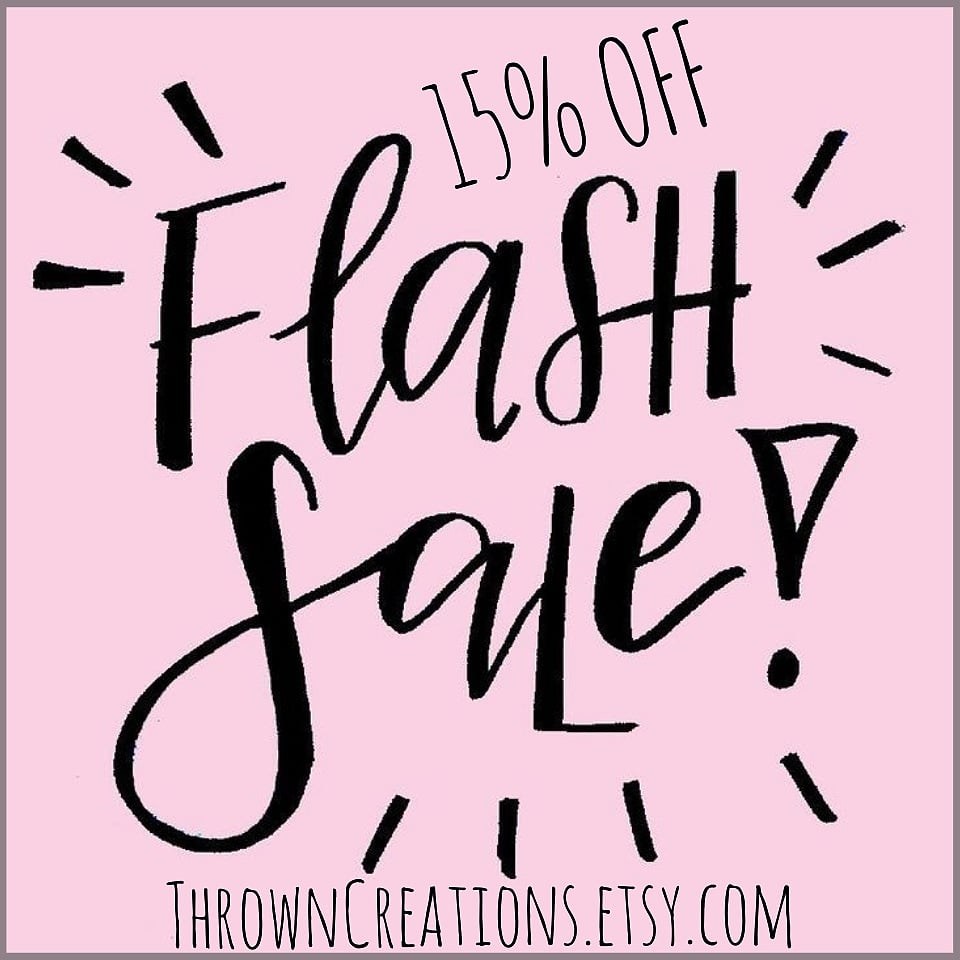 15% OFF FLASH SALE!!!!  *ENDS  SAT. JULY 4th*  http://ThrownCreations.etsy.com   #candles #scentedcandle #soywax #soy #soywaxcandlesforsale #handmade #handpoured #giftideas #giftforher #gifts #flashsale #soycandles #countryliving #melts #etsy #etsystore #waxmelts #candles #fragrance #pic.twitter.com/Ll4QXmeULj