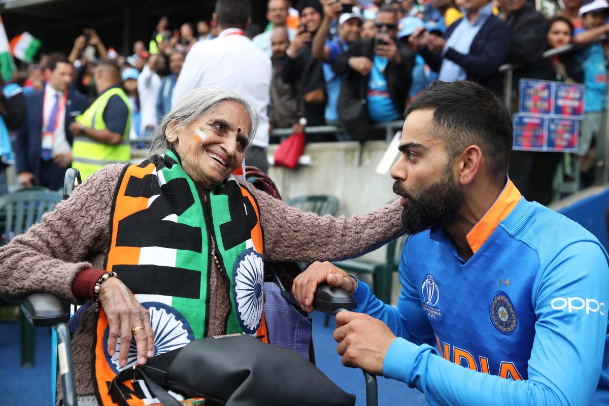 #OnThisDay last year, Virat Kohli shared a touching moment with 87-year-old fan Charulata Patel  <br>http://pic.twitter.com/60Yzdu0Cyu