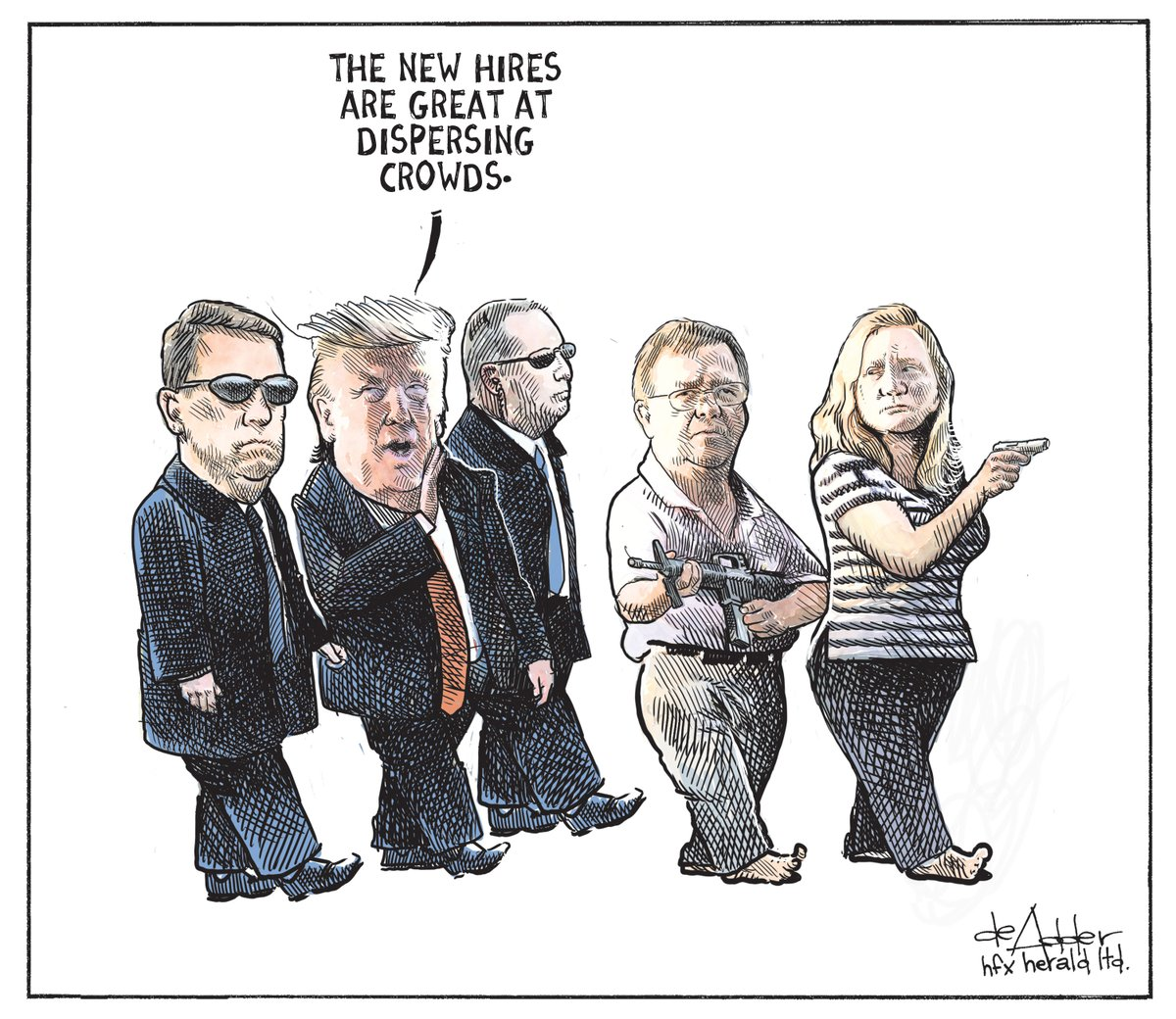 Cartoon for @chronicleherald #Trump #StLouis #stlouiscouple #StLouisprotest #TrumpPressConference #TrumpOut2020