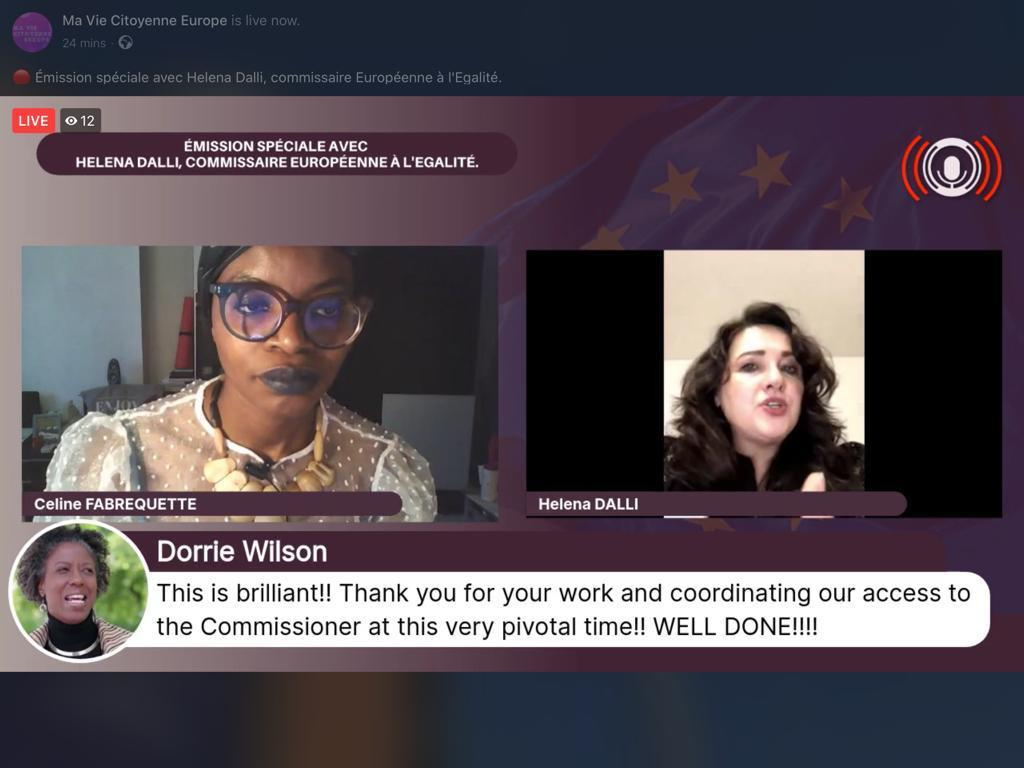 It was my great pleasure to discuss gender equality, racial and ethnic origin equality and justice and intersectionality with @FESIRA in her community programme Ma Vie Citoyenne: facebook.com/maviecitoyenne… #BlackLivesMatter #BlackWomenLivesMatter #UnionOfEquality