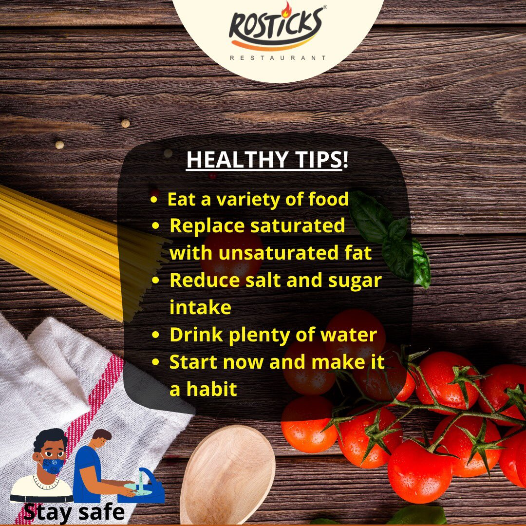 Tips for healthy living @rosticksng @skymallng   #eathealthy #healthyfood #eatclean #healthylifestyle #food #foodie #foodporn #healthy #fitness #healthyeating #nutrition #instafood #vegan #foodphotography #foodstagram #stayhealthy #healthyliving #stayhome