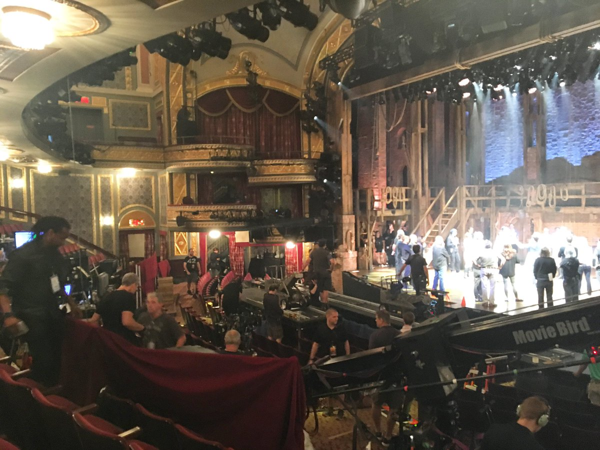 I didn't take a lot of photos during #Hamilfilm-ing (and this is...not a good one), but here's a small glimpse into how many people and how much work you won't see on the screen. It takes a village, and they basically built one in the Rodgers! https://t.co/PxYb8HIyDo
