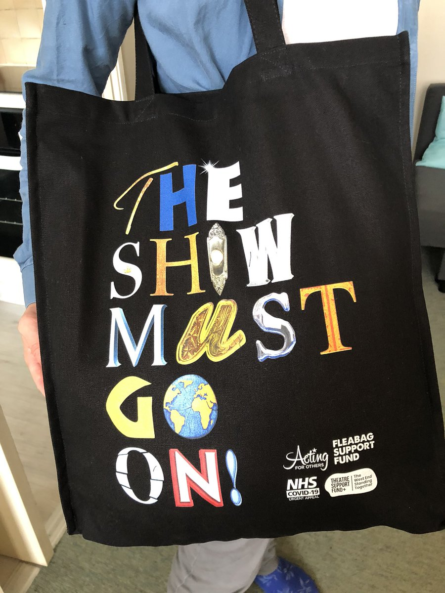 Well hello new tote! From @theatre_support supporting great causes keeping the industry going in these uncertain times @ActingforOthers #FleabagForCharity & @NHSCharities get yours here  #TheShowMustGoOn