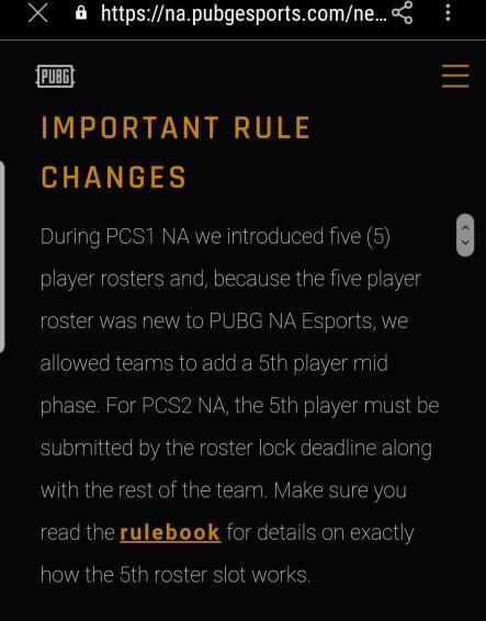 It's great to see PUBG NA has introduced 5 player rosters. Not sure why this isn't a global rule though. https://t.co/wi0iqROald