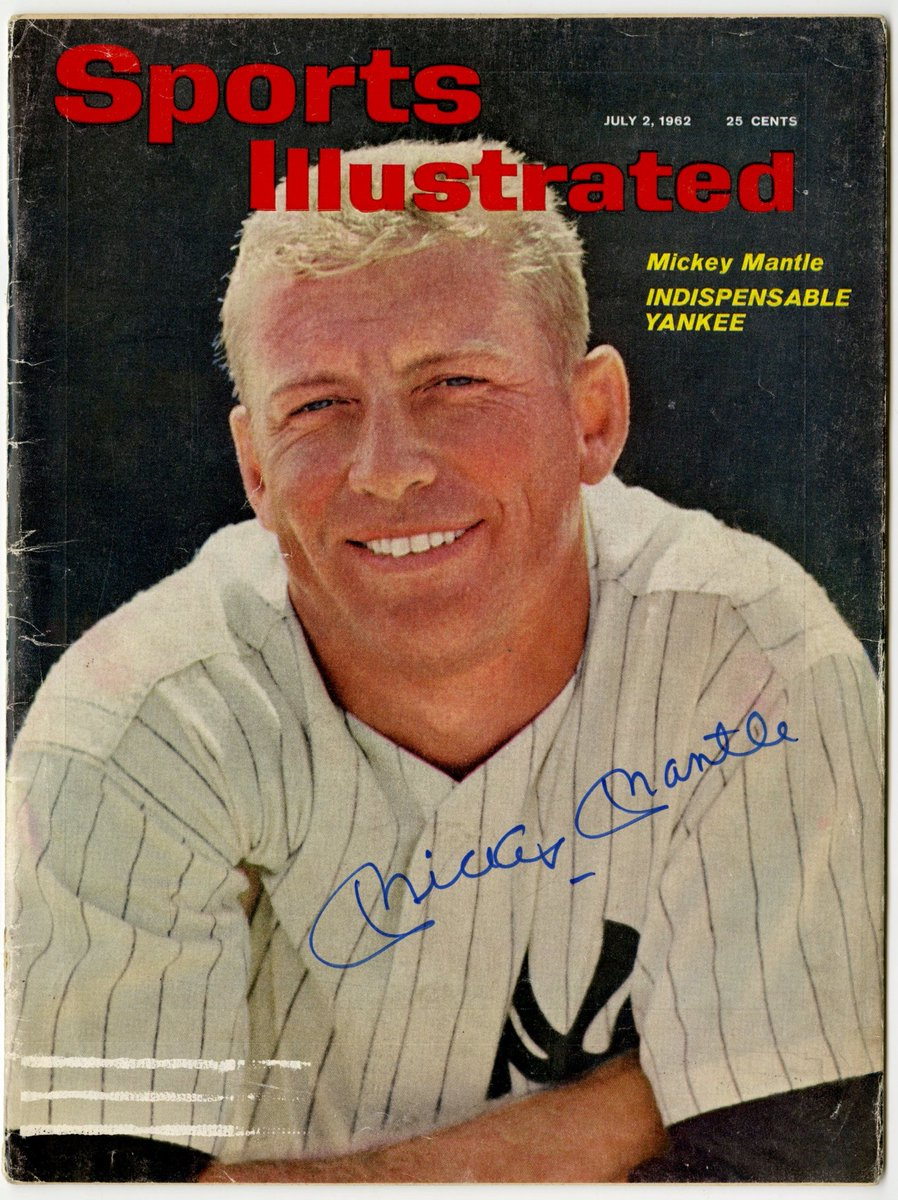 On This Date 07/02/1962: HOF Mickey Mantle graced the cover of Sports Illustrated. #Yankees <br>http://pic.twitter.com/lvWCONJN5s