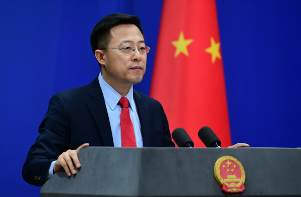 """Some people in the #US with hidden agendas have spared no effort to create and incite the so-called """"beautiful sight"""", and it's suggested that they keep the beautiful sight for themselves, Chinese FM said, after US house passed #HK Autonomy Act https://t.co/qzKOgpfYIN"""