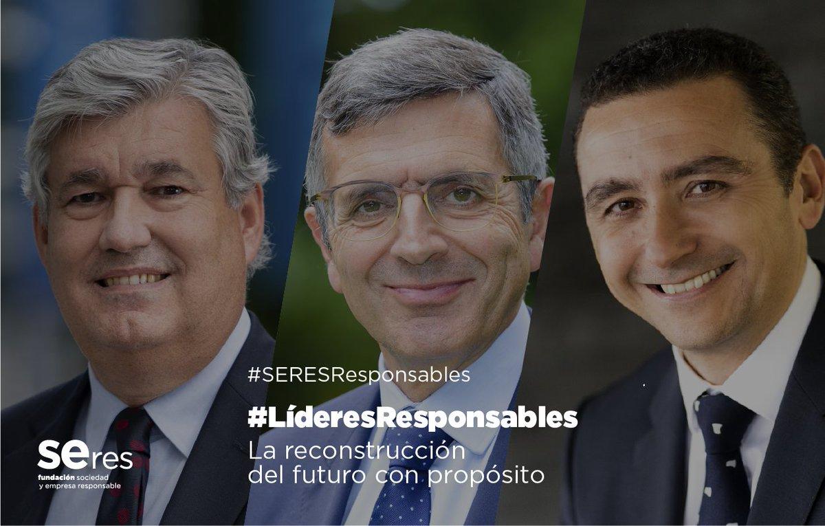 Hoy participo en el 10º diálogo de #LíderesResponsables de @Fundacion_SERES sobre la reconstrucción del futuro con #propósito junto a Sergi Biosca, CEO de @everis España. #SERESResponsables https://t.co/eW4h5B6mJg