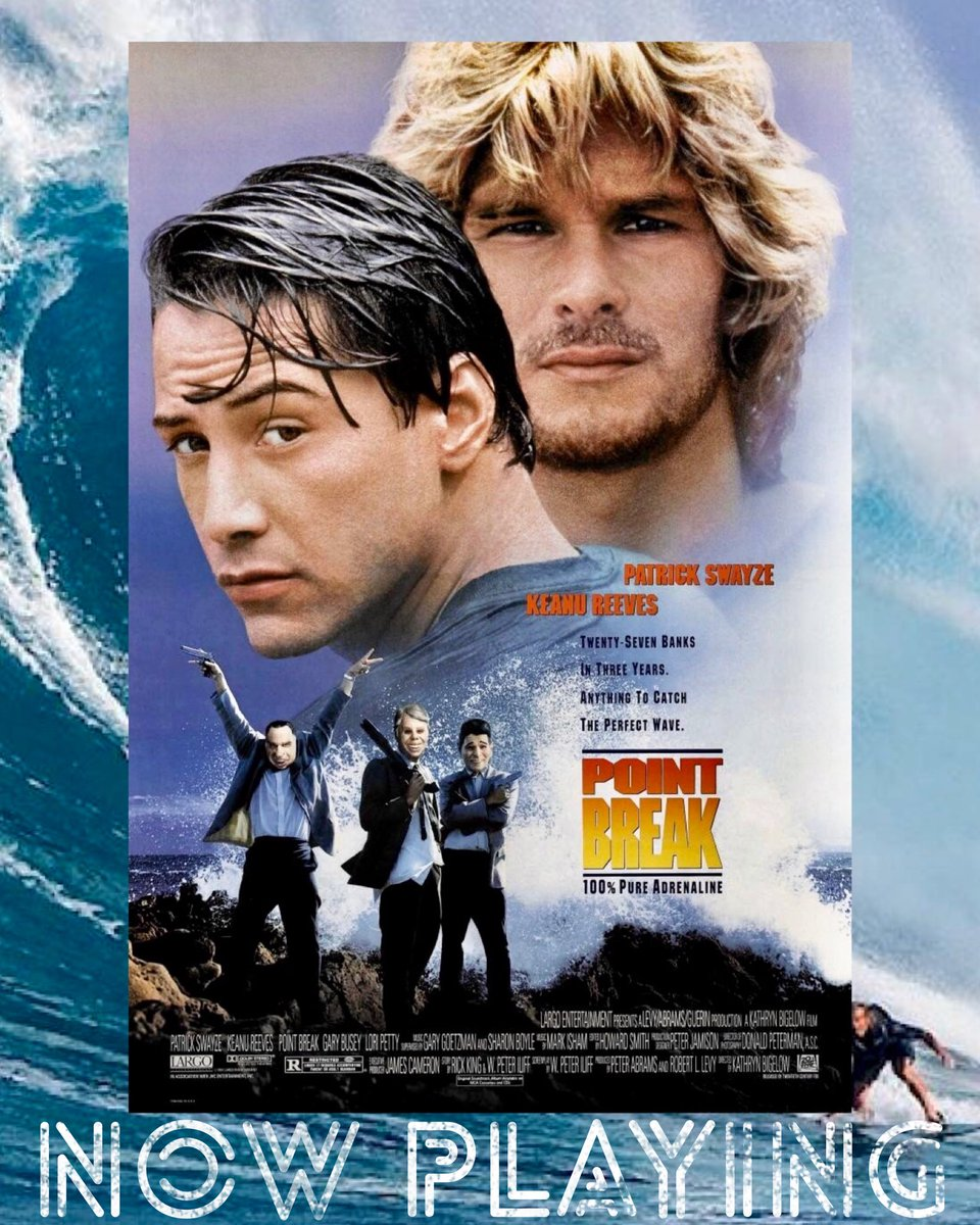 #Movies are an escape, companionship, love, but tonight it's memory. I don't watch #PointBreak often, it's a memory of someone I've lost. It's also lazy summers, pizza joints, video stores. Cinema has a way of washing annoyance, frustration, away by simple making you remember. https://t.co/avjzpziH1j