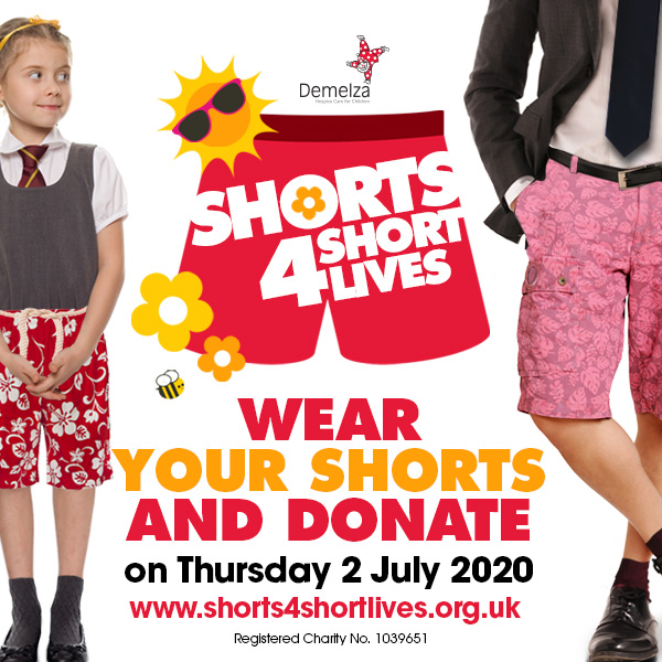 It's our first ever #Shorts4ShortLives day! 🌸 🩳 🌞 Be the bee's knees by donating at https://t.co/xCbzGdZmRs Don't forget to join in on social by tweeting a photo or video of you in your snazziest shorts and tagging @DemelzaHospice! 🤗💞 https://t.co/HhHyjqlWuO