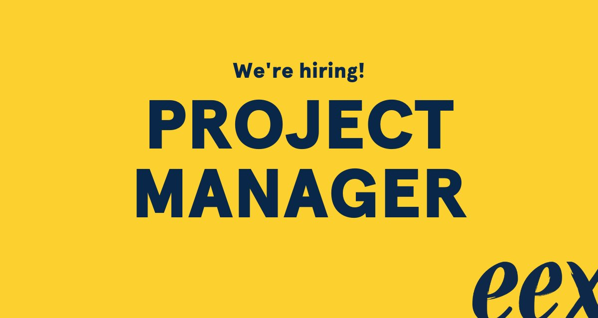 The team is expanding!We are now looking for a project manager to develop e-learning tools to support the #EEXjourney experience. In the position you will get to develop and test the tools in close cooperation with our alumni. Read more and apply: http://www.eexglobal.com/careers?utm_source=twitter&utm_medium=post&utm_campaign=recruitment_project_manager_2020 …pic.twitter.com/G63tb6G7Yb