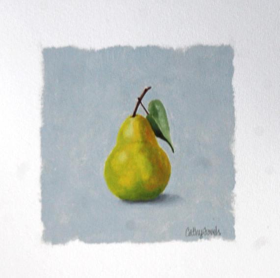 Green Pear Oil Painting   Fruit on Gray Background Miniature http://dld.bz/fNCGT oilpainting fineart #stilllife #traditional gray wallartpic.twitter.com/Jv9LxKgcLV