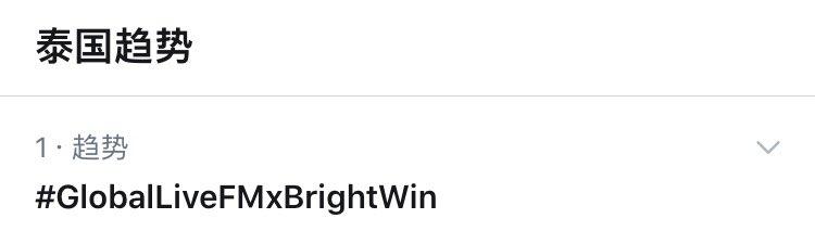 Top 1 Trends Thailand 🎉 #GlobalLiveFMxBrightWin
