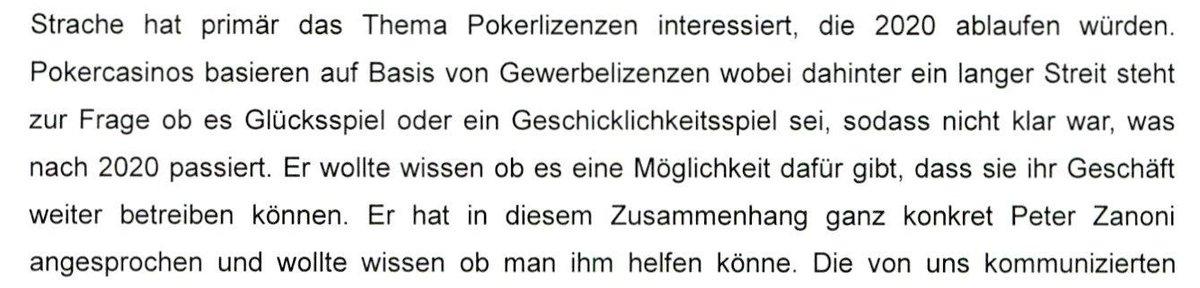 #ibizaUA 10.34 Uhr #Tomaselli/@Gruene_Austria fragt nach Aussage des CASAG-Ex-Vorstand Hoscher zum @HCStrache1-Einsatz für Pokerlizenzen und Zanoni. Da geht es nur um Strache. Damit ist bei Hofer kein Punkt zu machen. Es gibt so viele heikle Punkte zu Hofer. Der ist es nicht.pic.twitter.com/z9xp6YyERt  by Peter Pilz