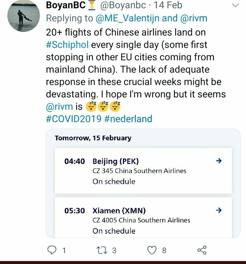 This is like a deja vu from the early stages of #COVID19 pandemic when the Netherlands did not implement any proactive measures such as quarantaine for passengers arriving from dangerous destinations. We all know how that turned out (6000-10000 #COVID19NL casualties) https://t.co/Yjh5DD3k34