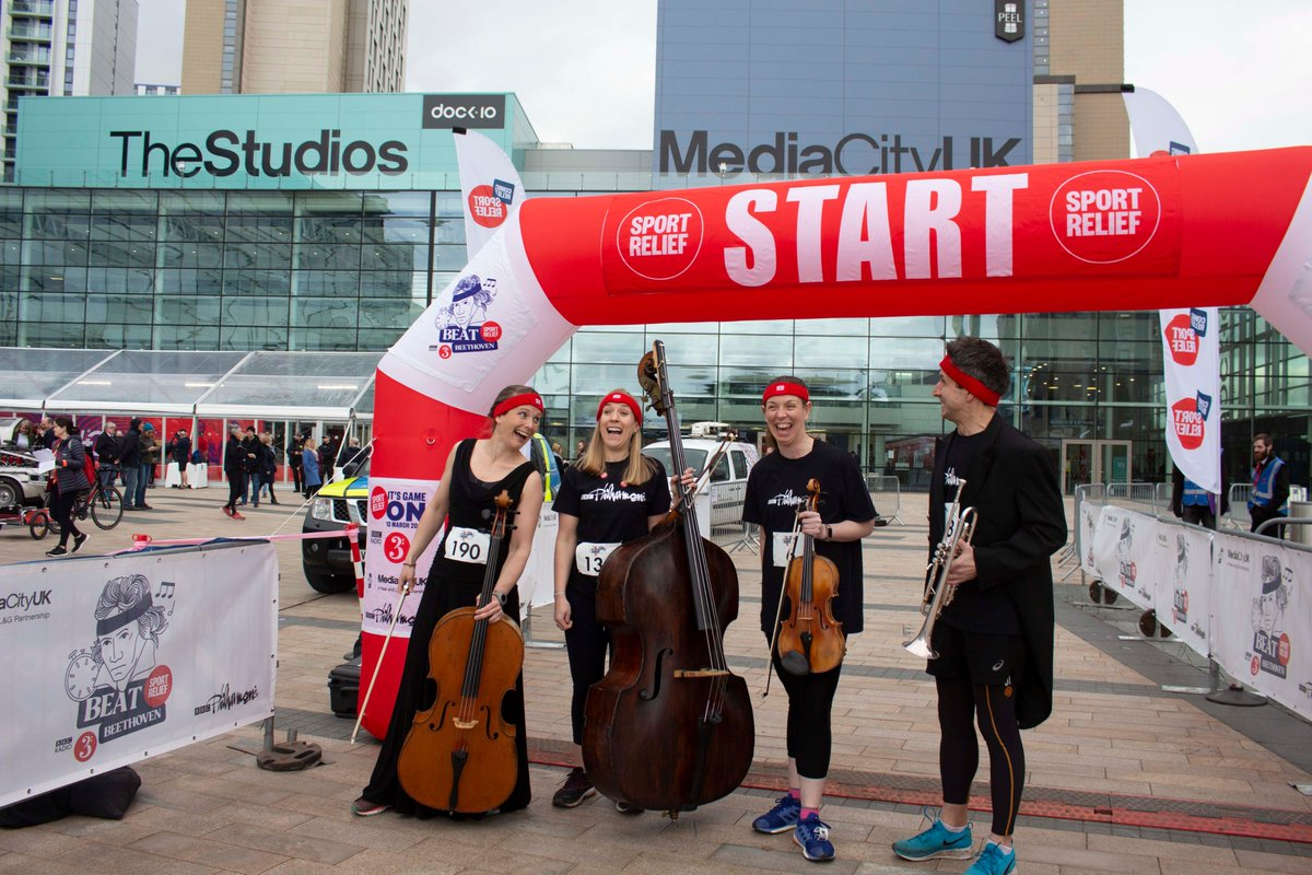 Friday 13th March - the last time we all played together in the same room 😢 🎽👟#BeatBeethoven was an amazing day. 📷Share your photos from the last concert you went to & add #LetTheMusicPlay @BBCRadio3 @BBCNorthPR @MediaCityUK @sportrelief @GernonBen