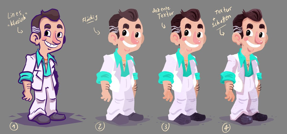 (4/???) Last one for today: I experimented with some shading.  #leisuresuitlarry #lsl #adventuregame #conceptart #gameart #videogameart #gamedev #characterdesignpic.twitter.com/QJGNOkMFsd